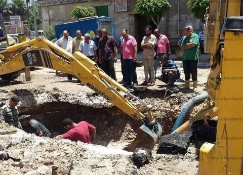 """بدء أعمال تصليح ماسورة مياه """"الأزاريطة"""" في الإسكندرية"""
