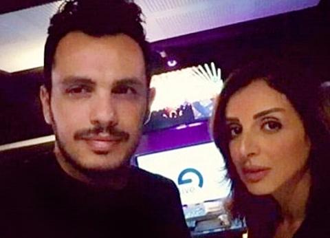 بالفيديو  رسالة حب من أنغام لزوجها أحمد ابراهيم
