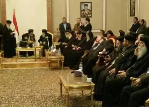 """""""الوطن"""" تنشر أول صور من اجتماع البابا تواضروس بالقيادات الكنسية"""