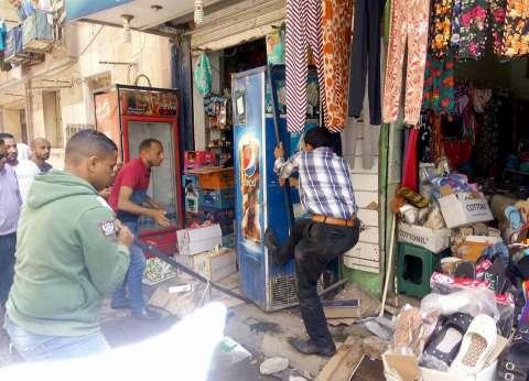 حملة لإزالة الإشغالات والمخالفات والكتل الخرسانية وسط الإسكندرية