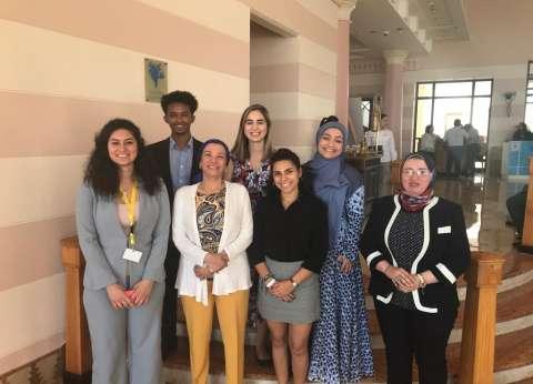 وزيرة البيئة تلتقي ممثلي الأمم المتحدة بمنتدى شباب العالم