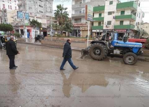 سقوط أمطار خفيفة بمدينة مرسى علم بالبحر الأحمر