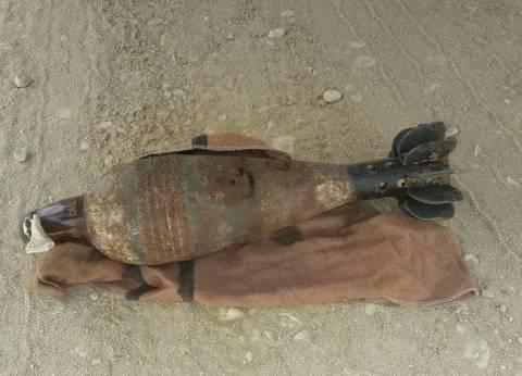 العثور على دانة من مخلفات الحرب خلال أعمال توسعة بمحطة صرف بالأقصر