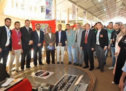 رئيس جامعة المنوفية يفتتح المعرض العلمي بالهندسة الإلكترونية في منوف