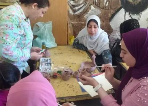 """ورش لتعليم صناعة الخزف وتلوينه بـ""""ثقافة المنيا"""""""
