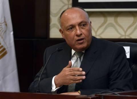 """""""شكري"""" يحذر رئيس وزراء لبنان من """"الطائفية"""": """"الفراغ الرئاسي"""" أمر مقلق"""