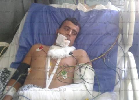جامعة المنصورة: الطالب المصاب في هجوم الروضة يعاني كسور وتهتك بالوجه