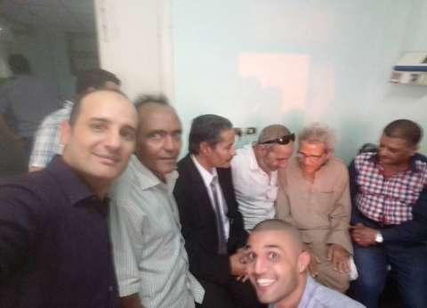 بالصور  توافد المثقفين لزيارة الشاعر محمد الشهاوي بكفر الشيخ