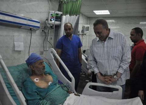 محافظ الجيزة: خروج 6 من مصابي قطار البدرشين و10 حالات تتلقى العلاج