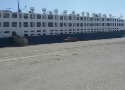 ميناء غرب بورسعيد يستقبل 2500 رأس ماشية حية