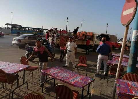 حي شرق الإسكندرية يشن حملة لرفع التعديات على الطريق العام