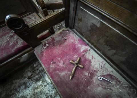 ساعة «قاعة القداس» توقفت عند التاسعة و56 دقيقة ونقل ما بقى من أيقونات لـ«العذراء والمسيح» خارج الكنيسة