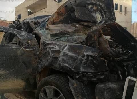 """إصابة 4 أشخاص في انقلاب سيارة بطريق """"سيوة - مطروح"""""""