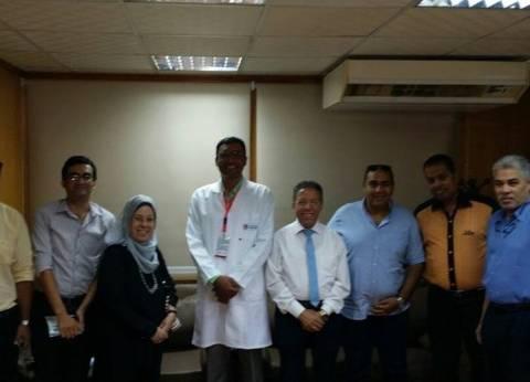 وكيل وزارة الصحة بالسويس يلتقي بأعضاء نقابة الأطباء