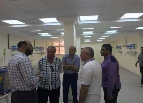 بالصور| رئيس مدينة السرو بدمياط يتفقد قسم الحضانات  بالمستشفى المركزي