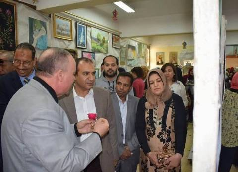 """افتتاح معرض """"الإبداع الطلابي"""" بالمدرسة الصناعية بأبوقرقاص في المنيا"""