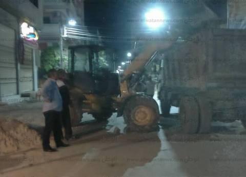 إزالة 4 حالات أبنية مخالفة والتحفظ على المعدات في دسوق