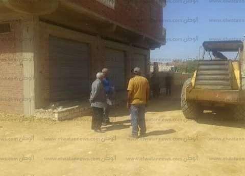 إزالة التعديات على 125 فدانا من أراضي الدولة بمركز بئر العبد