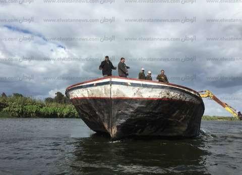 """""""الداخلية"""" تشن حملات موسعة لإزالة التعديات على نهر النيل"""