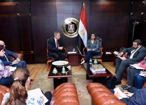سحر نصر تبحث مع الغرفة العربية الألمانية تنظيم منتدى استثماري ببرلين