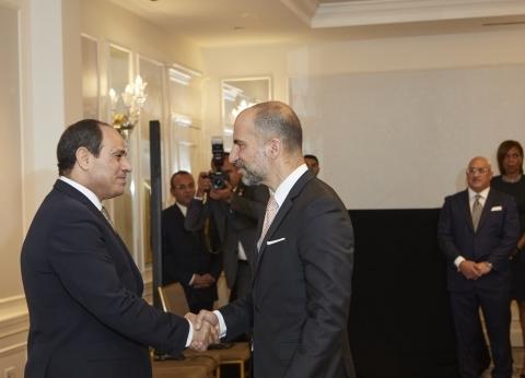 """السيسي يلتقي الرئيس التنفيذي لـ""""أوبر"""" لبحث تطورات الشركة في مصر"""