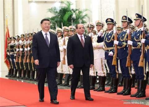 """""""الرئاسة"""": السيسي يلتقي رئيس جنوب السودان في بكين"""