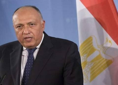 سامح شكري: مصر تدافع عن أمن أوروبا والشرق الأوسط في حربها على الإرهاب