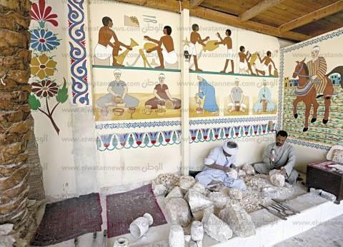 النحت على «المرمر».. مهنة توارثها أهل «القرنة» عن الفراعنة