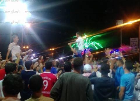 بالصور| استمرار احتفالات جماهير رأس سدر بفوز المنتخب حتى الصباح
