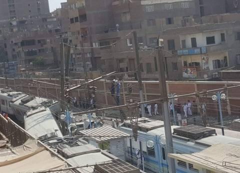 """""""المترو"""": خروج 5 عربات من """"قطار المرج"""" عن القضبان بسبب خطأ في التحويلة"""