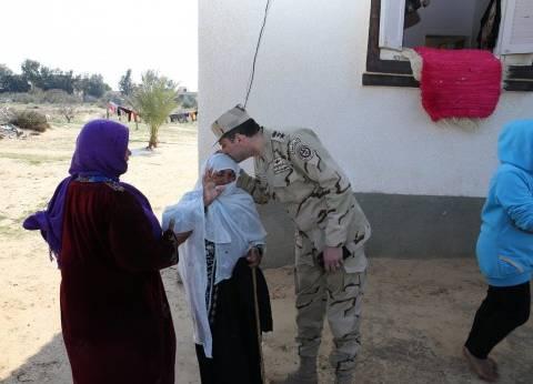 بالصور| المتحدث العسكري من سيناء: نتلاحم مع الأهالي لحماية مقدرات الشعب
