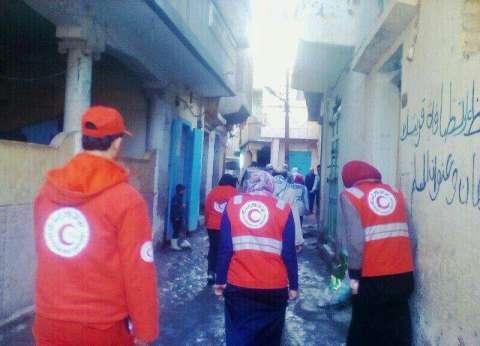 """""""الهلال الأحمر"""" يدعم ضحايا """"مركب برج المغزل"""" بكفر الشيخ"""