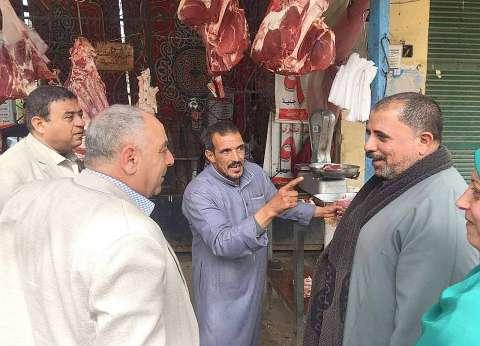 """وكيل """"زراعة الغربية"""" يتفقد منفذ بيع اللحوم واستعدادات شهر رمضان"""