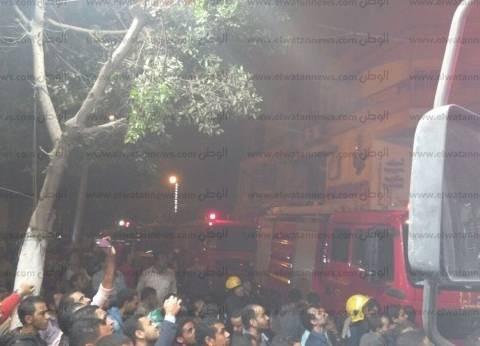 النيابة تنتدب الأدلة الجنائية لتحديد أسباب حريق مخزن للأدوات المكتبية بالفجالة