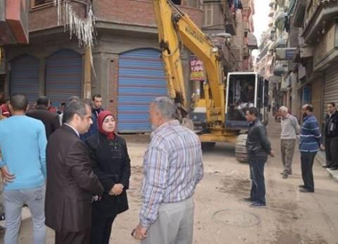 بالصور  رئيس مدينة المحلة يتفقد أعمال التطوير بشارع كنيسة الأورام لخدمة المواطنين