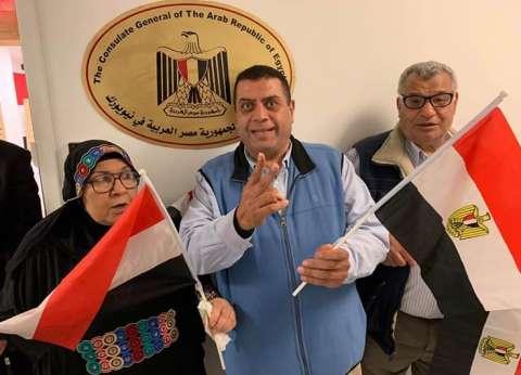 عمدة المصريين بأمريكا يدلي بصوته في الاستفتاء على التعديلات الدستورية