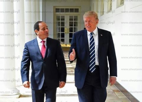 """ترامب عن لقاء السيسي: """"عودة قوية للعلاقات بين البلدين"""""""