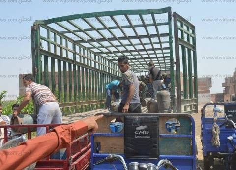 توزيع 900 أسطوانة بوتاجاز لسد احتياجات المواطنين بمنفلوط