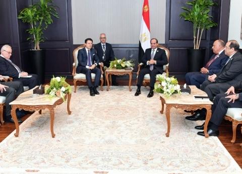السيسي يستقبل رئيس وزراء إيطاليا على هامش القمة العربية الأوروبية