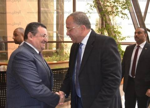 أسامة هيكل يستقبل الدكتور أشرف العربي وزير التخطيط