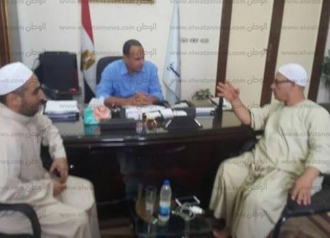 بالصور| رئيس مدينة دسوق ووكيل الأوقاف يبحثان استعدادات مولد الدسوقي
