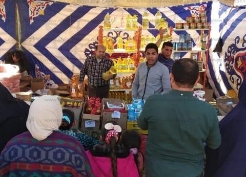 بالصور  قافلة غذائية بأسعار مخفضة في سيدي سالم ومنشأة علي بكفر الشيخ