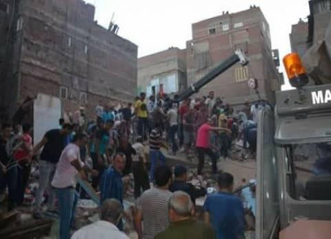 بالأسماء| إصابة 10 مواطنين إثر انهيار عقار في عزبة البرج بدمياط