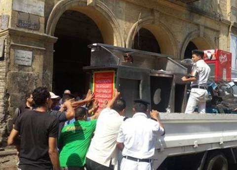 حملة لرفع الإشغالات من روض الفرج بالقاهرة