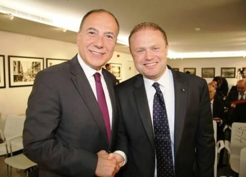 مسؤول لبناني يبحث مع رئيس وزراء مالطا تطوير العلاقات الاقتصادية
