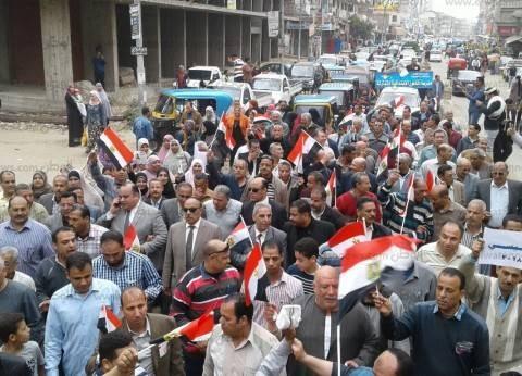 """رئيس """"قطور""""يقود مسيرة للحث على المشاركة في الانتخابات بالغربية"""
