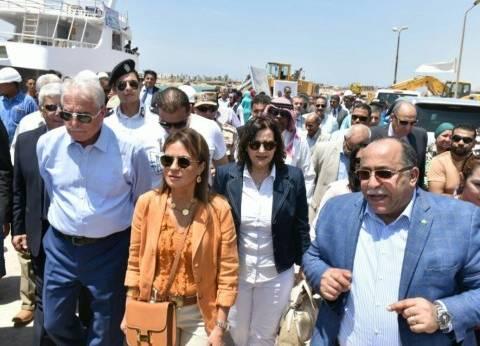"""وزيرة الاستثمار ومحافظ جنوب سيناء يزوران ميناء الصيد في """"الطور"""""""