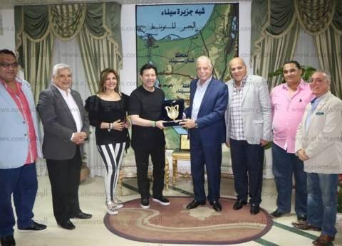 محافظ جنوب سيناء يستقبل وفدا من نقابة المهن الموسيقية