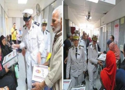وفد من ضباط حقوق الإنسان في معهد الأورام لمشاركة النزلاء يوما رمضانيا