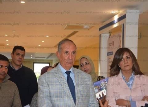 """وزيرة الهجرة تتفقد تجهيزات مؤتمر """"مصر تستطيع.. بالتعليم"""" بالبحر الأحمر"""